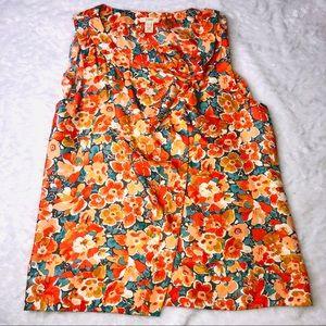 J Crew Marseilles floral sleeveless cami silk